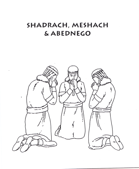 Meshach And Abednego Fire Coloring Page